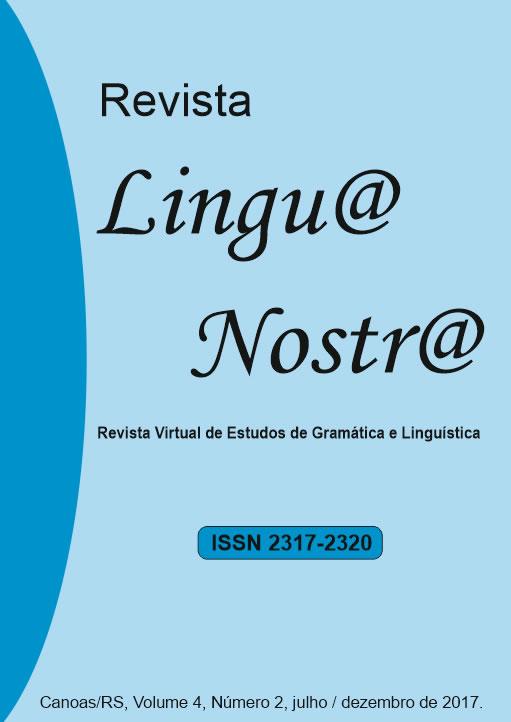 Visualizar v. 5 n. 2 (2017): 9ª Edição da Revista Lingu@ Nostr@