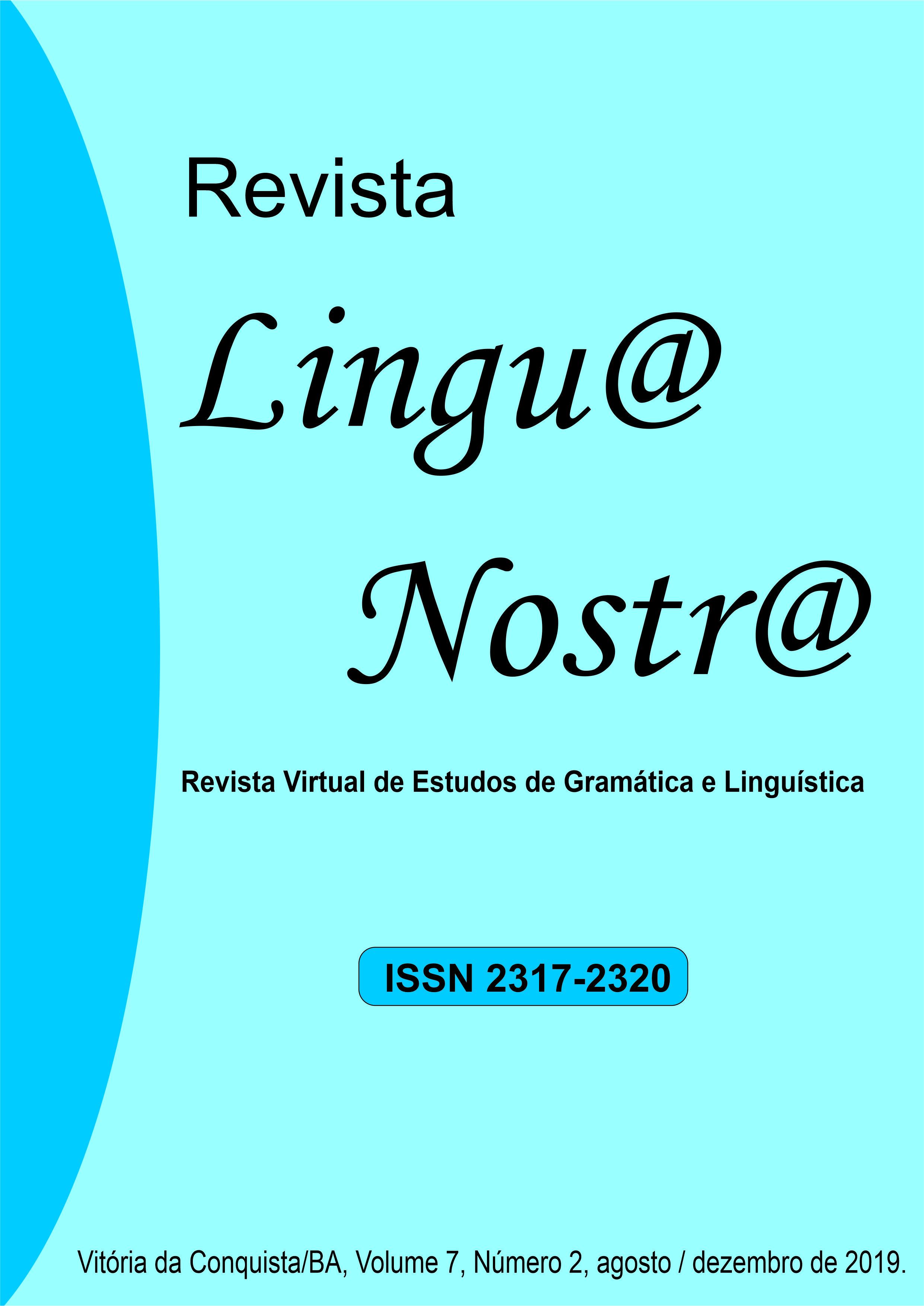 Visualizar v. 6 n. 2 (2019): 13ª Edição da Revista Lingu@ Nostr@